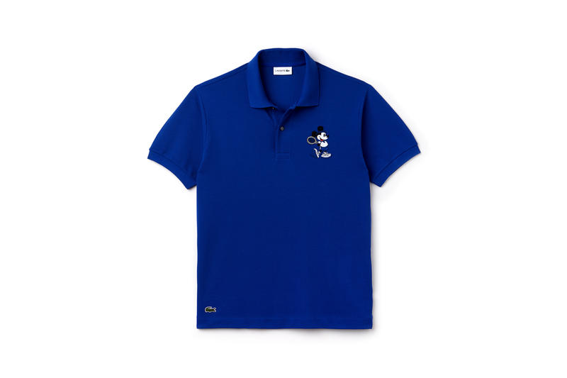 Disney x LACOSTE Capsule Collection Mickey Mouse Collared Shirt Royal Blue