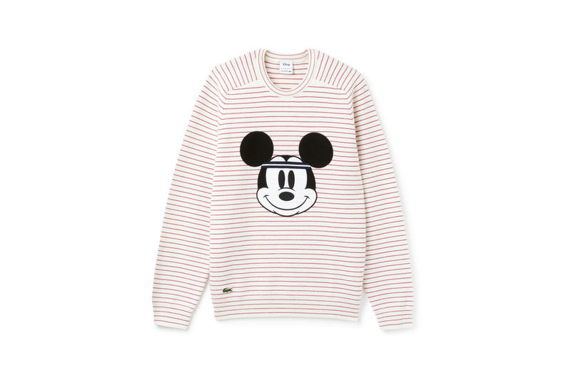 Disney x LACOSTE Capsule Collection Mickey Mouse Sweatshirt Grey Red