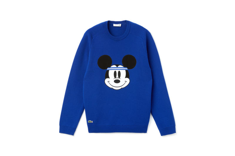 Disney x LACOSTE Capsule Collection Mickey Mouse Sweatshirt Blue