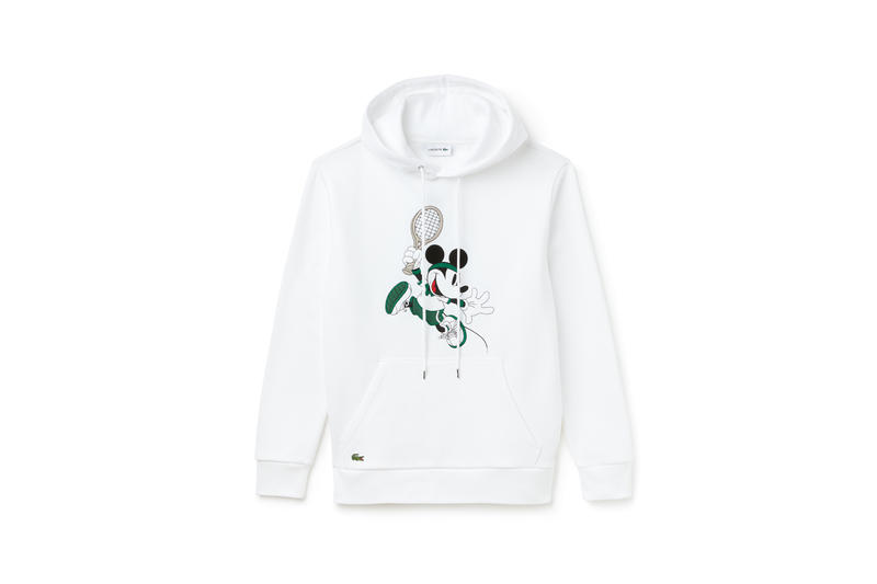 Disney x LACOSTE Capsule Collection Mickey Mouse Hoodie White