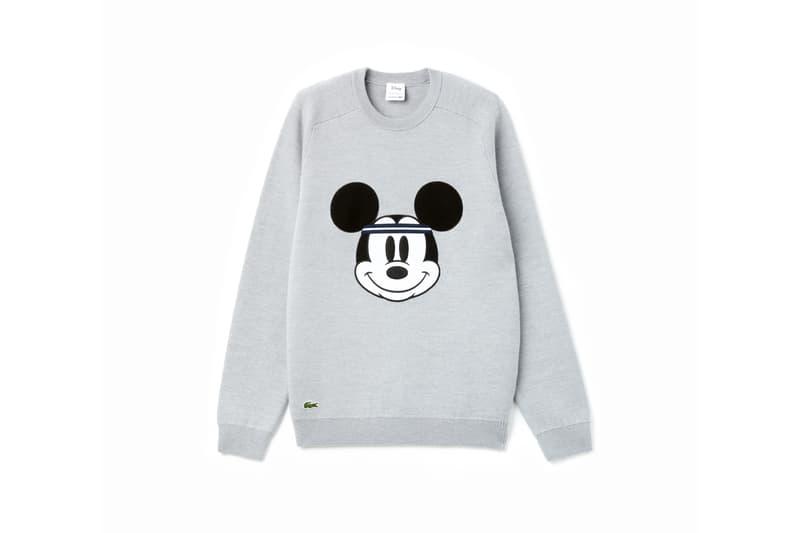 Disney x LACOSTE Capsule Collection Mickey Mouse Sweatshirt Grey