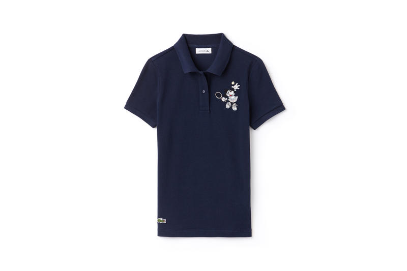 Disney x LACOSTE Capsule Collection Minnie Mouse Collared Shirt Blue