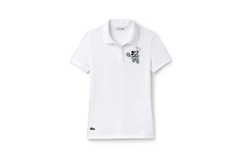 Disney x LACOSTE Capsule Collection Minnie Mouse Collared Shirt White