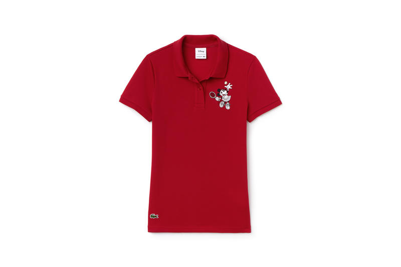 Disney x LACOSTE Capsule Collection Minnie Mouse Collared Shirt Red