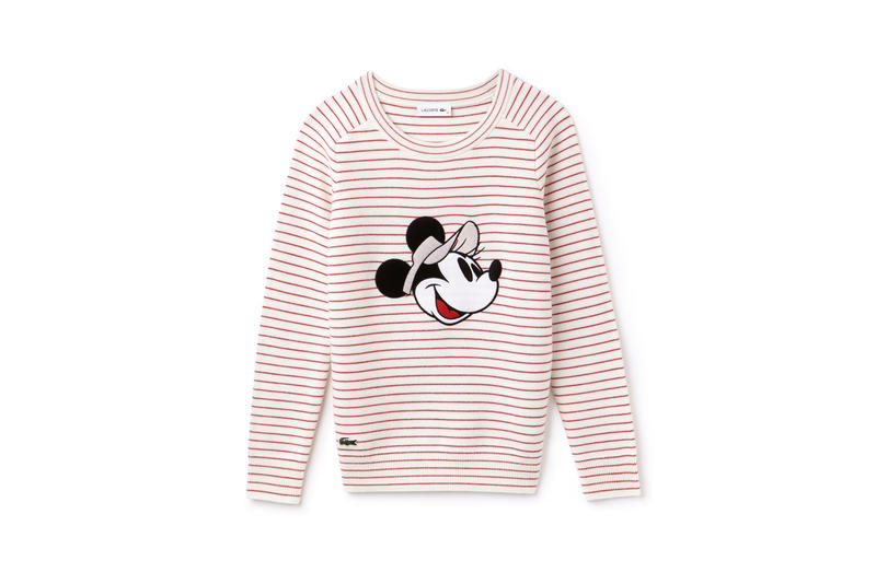 Disney x LACOSTE Capsule Collection Minnie Mouse Sweatshirt Red White