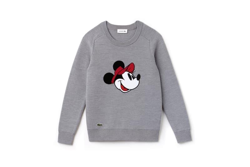 Disney x LACOSTE Capsule Collection Minnie Mouse Sweatshirt Grey