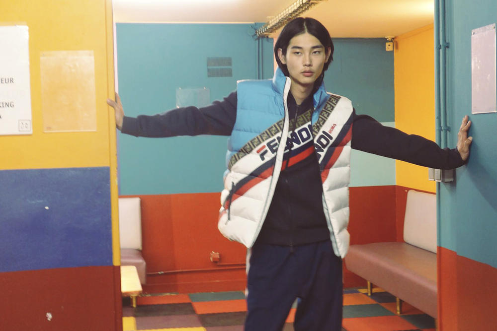 FENDI MANIA Capsule Collection Lookbook Jacket Red White Blue