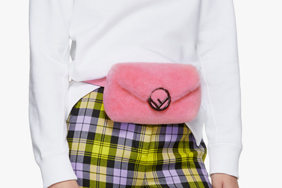 bc12926463a Fendi Fanny Pack and Shearling Belt Bag in Pink   HYPEBAE