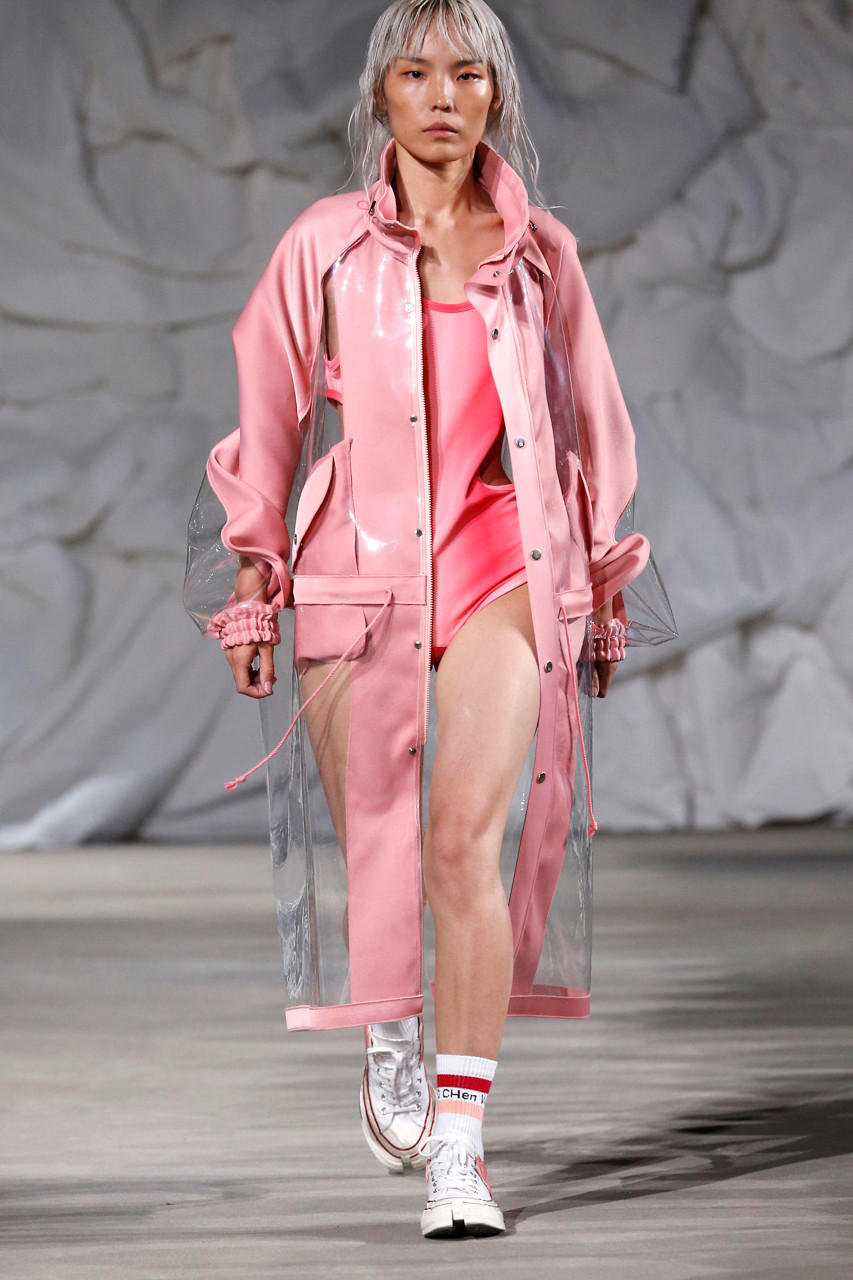 Feng Chen Wang x Converse Chuck Taylor All Star Spring Summer 2019 Collaboration White Jacket Bodysuit Pink