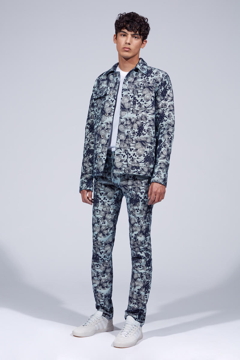 Fiorucci Spring Summer 2019 Collection Lookbook Floral Patterned Jacket Pants Blue White