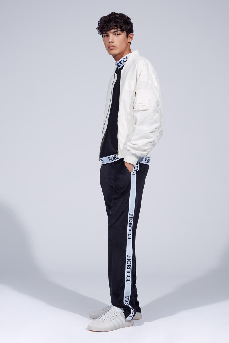 Fiorucci Spring Summer 2019 Collection Lookbook Jacket White Shirt Pants Black