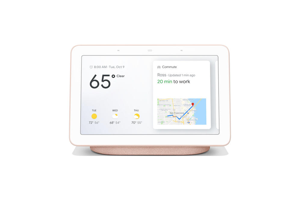 Google Home Hub Colorways Pink Pastel Blue Pink Silver