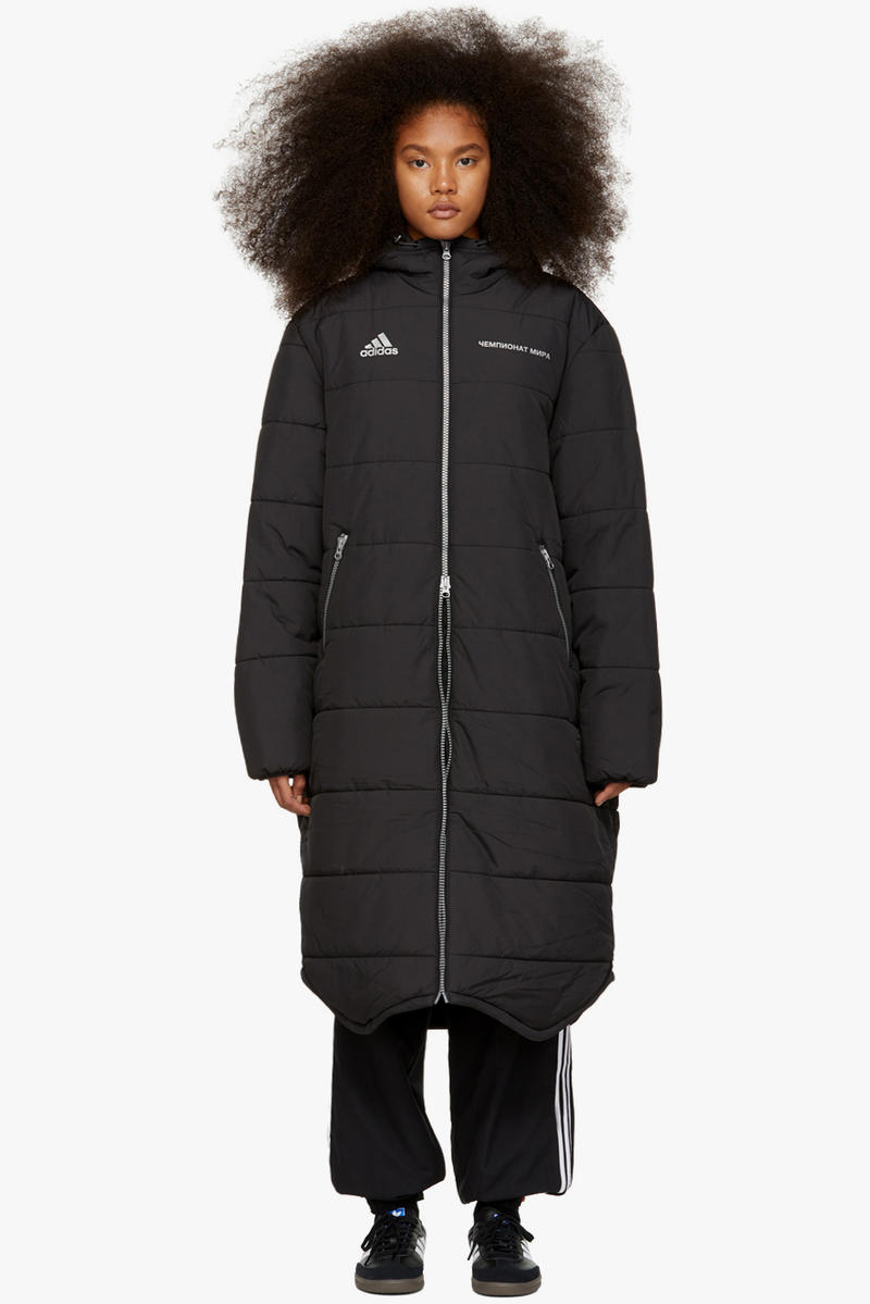 Gosha Rubchinskiy Final Fall Winter 2018 Drop adidas Originals Long Puffer Coat Black