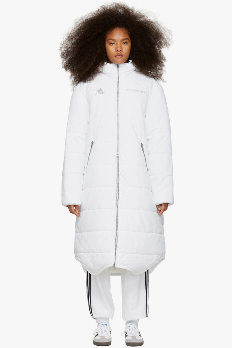 Gosha Rubchinskiy Final Fall Winter 2018 Drop adidas Originals Long Puffer Coat White