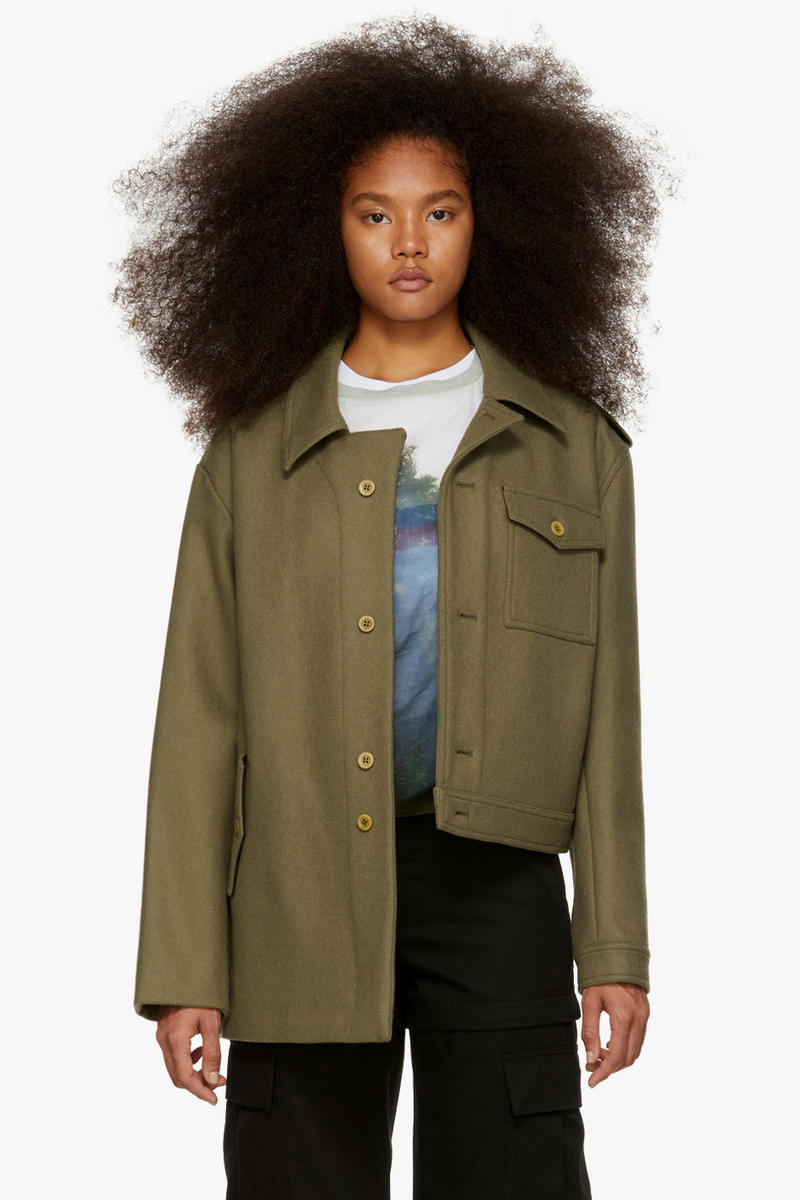 Gosha Rubchinskiy Final Fall Winter 2018 Drop Hybrid Jacket Green