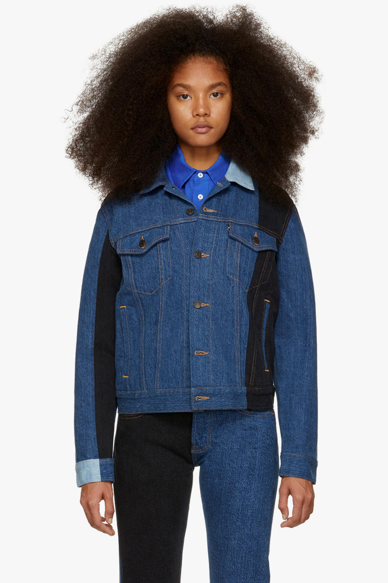 Gosha Rubchinskiy Final Fall Winter 2018 Drop Levi's Denim Patchwork Jacket Navy