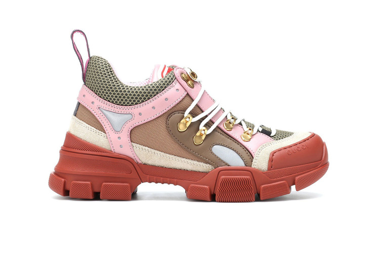 97a566869448 Gucci s Flashtrek Sneaker Arrives in Baby Pink   Brown