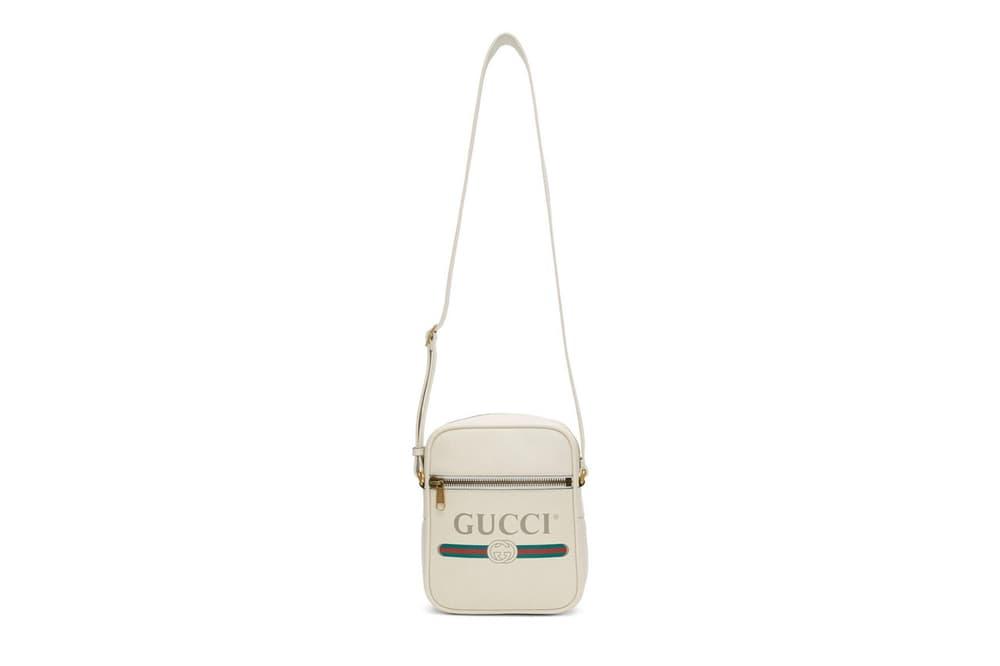Gucci Vintage Logo Messenger Bag Ivory