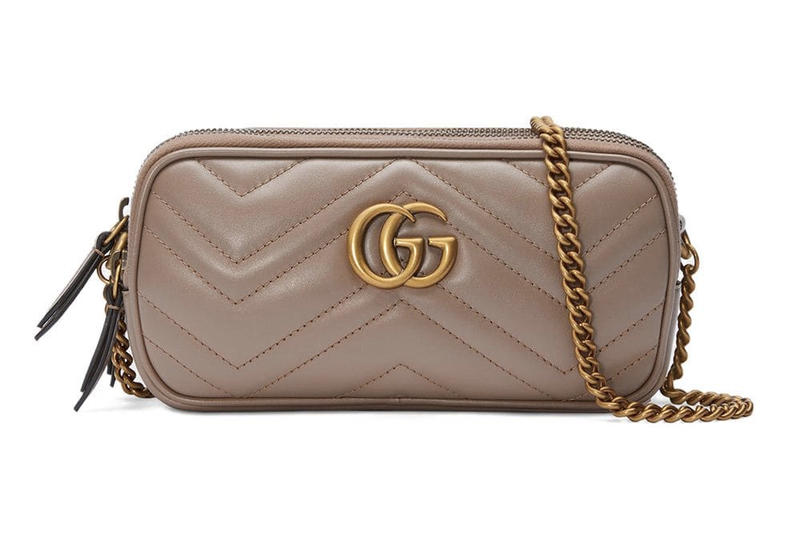 Gucci Marmont Mini Chain Bag GG Dusty Pink