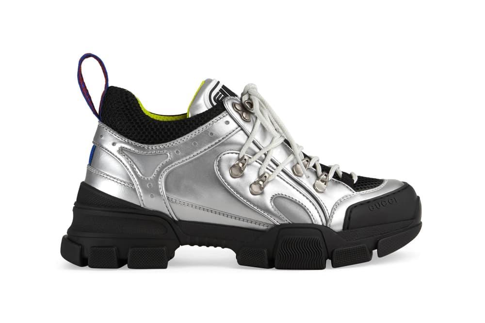 5003a8511f9 Gucci Releases Flashtrek Sneaker in Silver