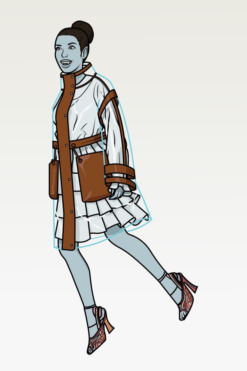 Halloween Character Zombie Fendi Spring Summer 2019 Coat Transparent Brown