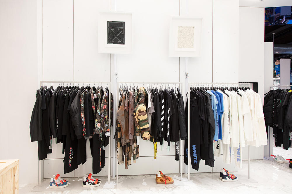 Off-White Virgil Abloh Bedroom Hirshleifers Shop New York