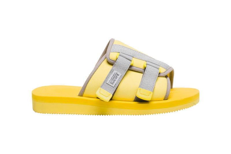 Tyler the Creator Golf SUICOKE KAW-CAB Sandals Mocha Lemon Yellow