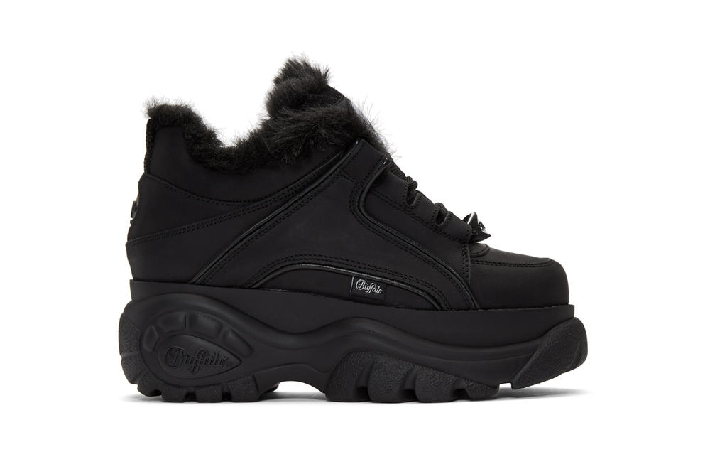Junya Watanabe x Buffalo London Sherpa Lined Sneaker Black White
