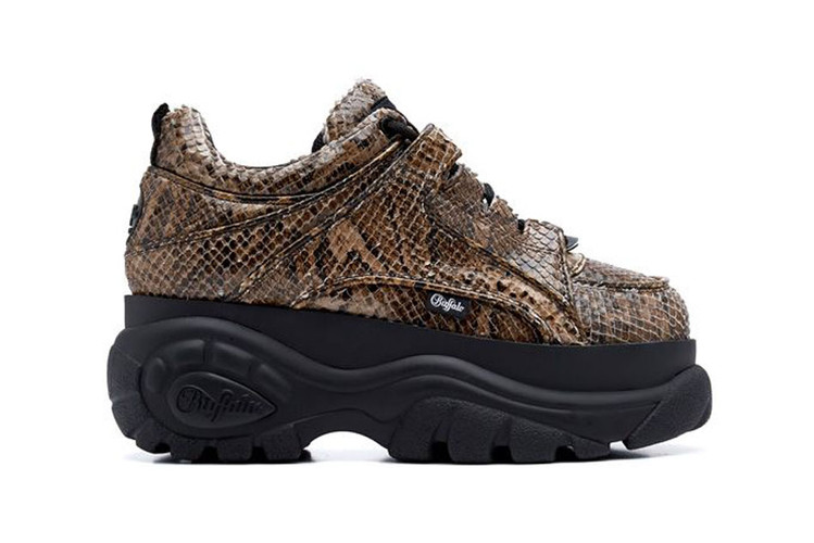 219a74bed612df Junya Watanabe x Buffalo London Debut a Crocodile-Printed Platform Sneaker