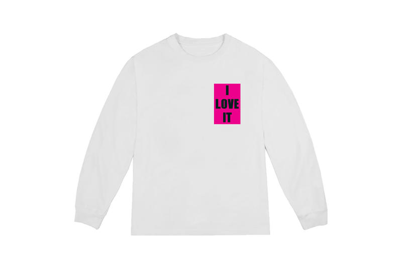 Kanye West I Love It T-shirt White Pink