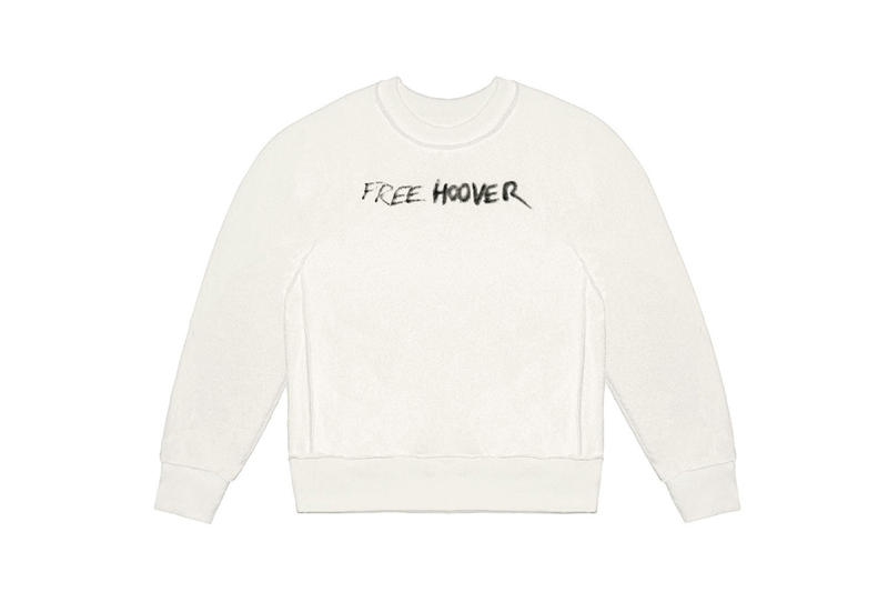 Kanye West Free Hoover Sweatshirt Cream Black