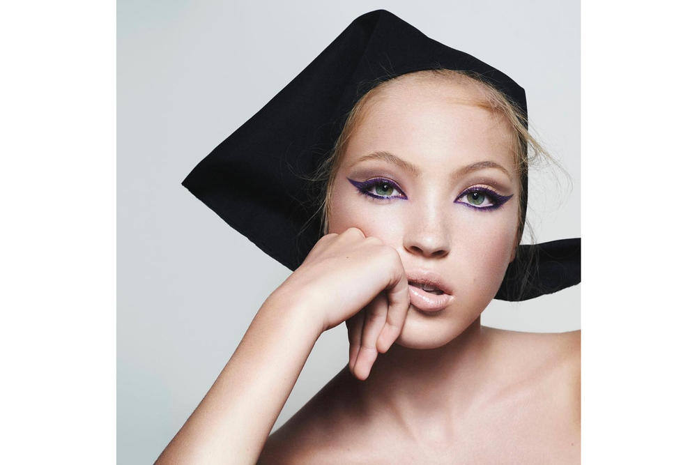 lila moss kate moss daughter marc jacobs beauty campaign new face david sims harvey nichols sephora makeup fineliner