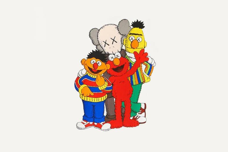 KAWS Sesame Street Uniqlo UT Bert Ernie Companion Elmo Plush Toy