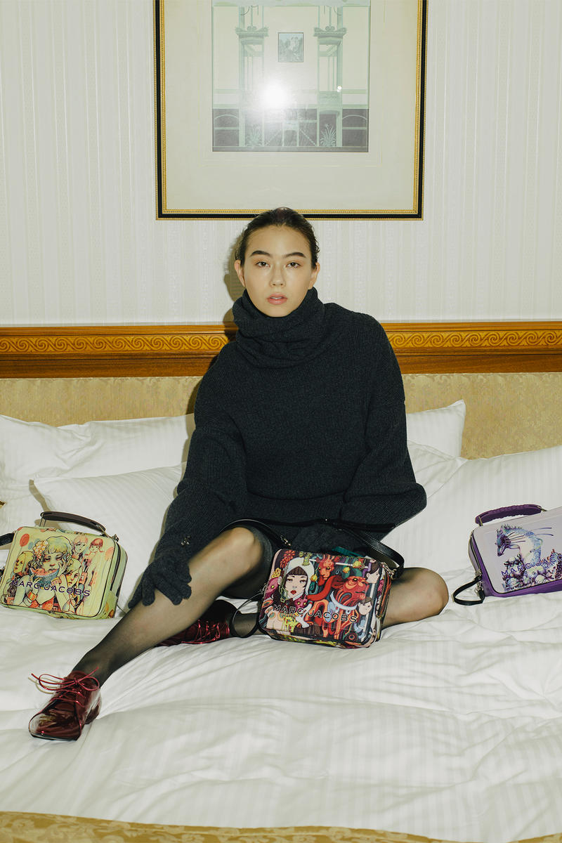 lauren tsai terrace house netflix collaboration marc jacobs handbags mini backpacks wallets campaign lookbook