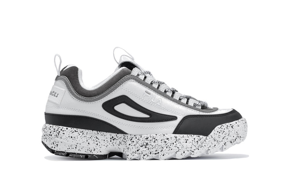 Liam Hodges x FILA Disruptor Collaboration Sneaker White Grey Black Silhouette Exclusive