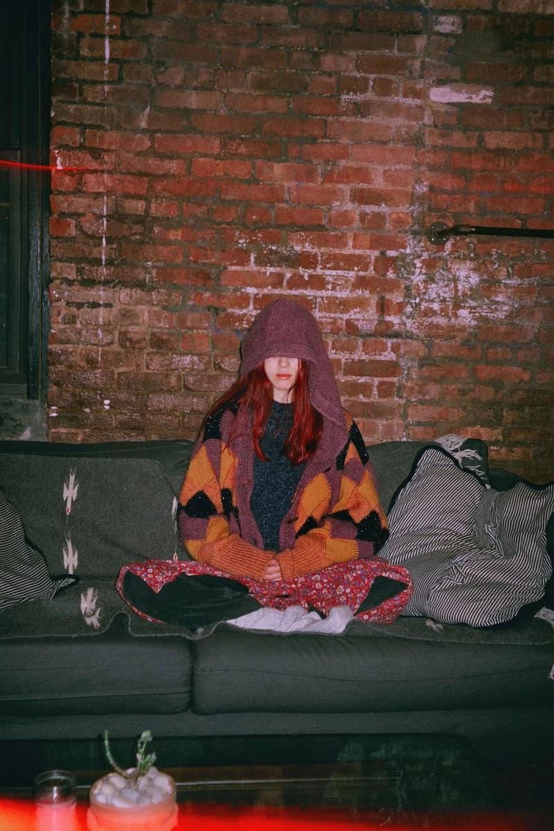 Woman Meditating in Hoodie