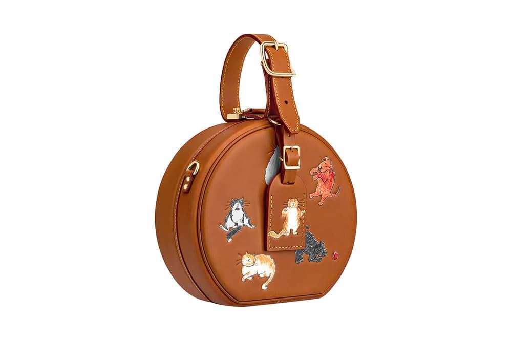 Louis Vuitton Grace Coddington Cruise 2019 Collaboration Cats Circle Bag