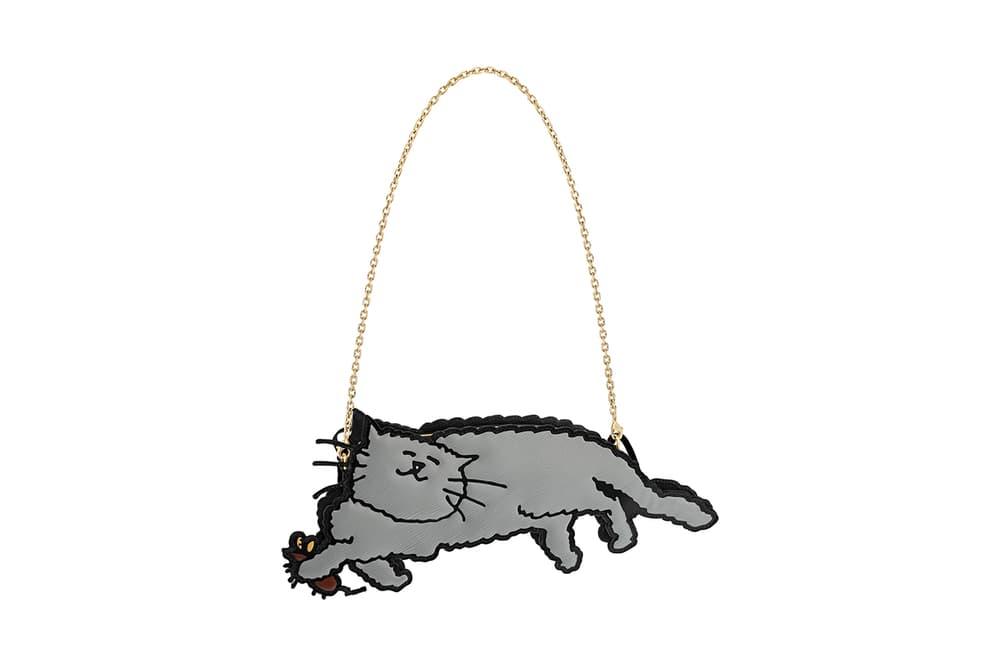 Louis Vuitton Grace Coddington Cruise 2019 Collaboration Cat Grey Bag Chain