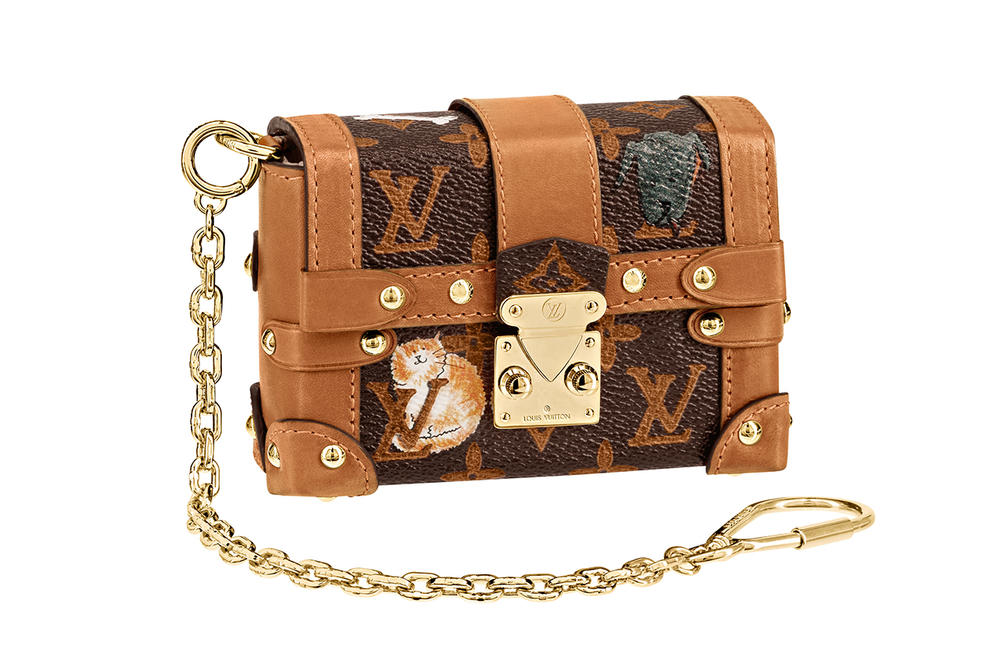 Louis Vuitton Grace Coddington Cruise 2019 Collaboration Cats Monogram Chain Bag