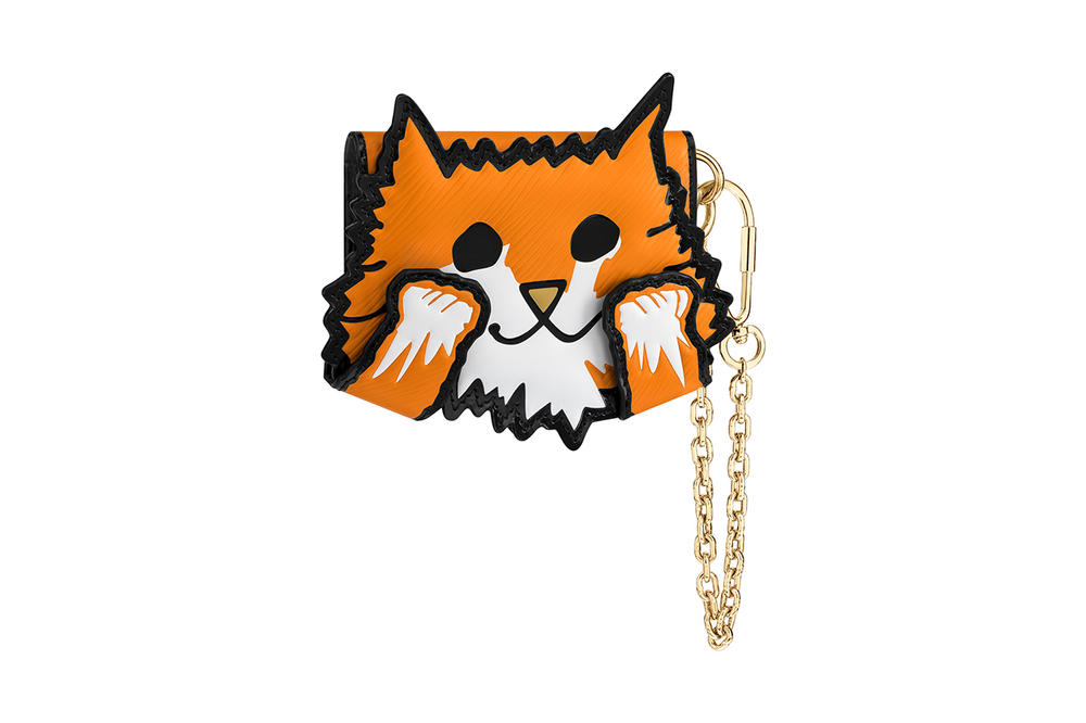 Louis Vuitton Grace Coddington Cruise 2019 Collaboration Cat Orange Chain Wallet