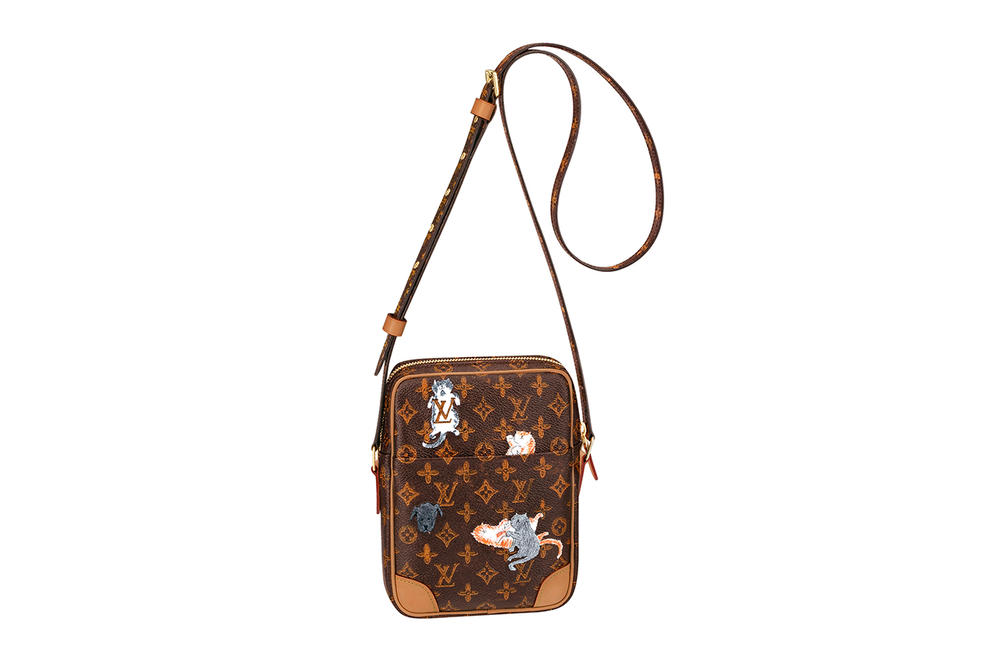 Louis Vuitton Grace Coddington Cruise 2019 Collaboration Cats Monogram Bag Crossbody