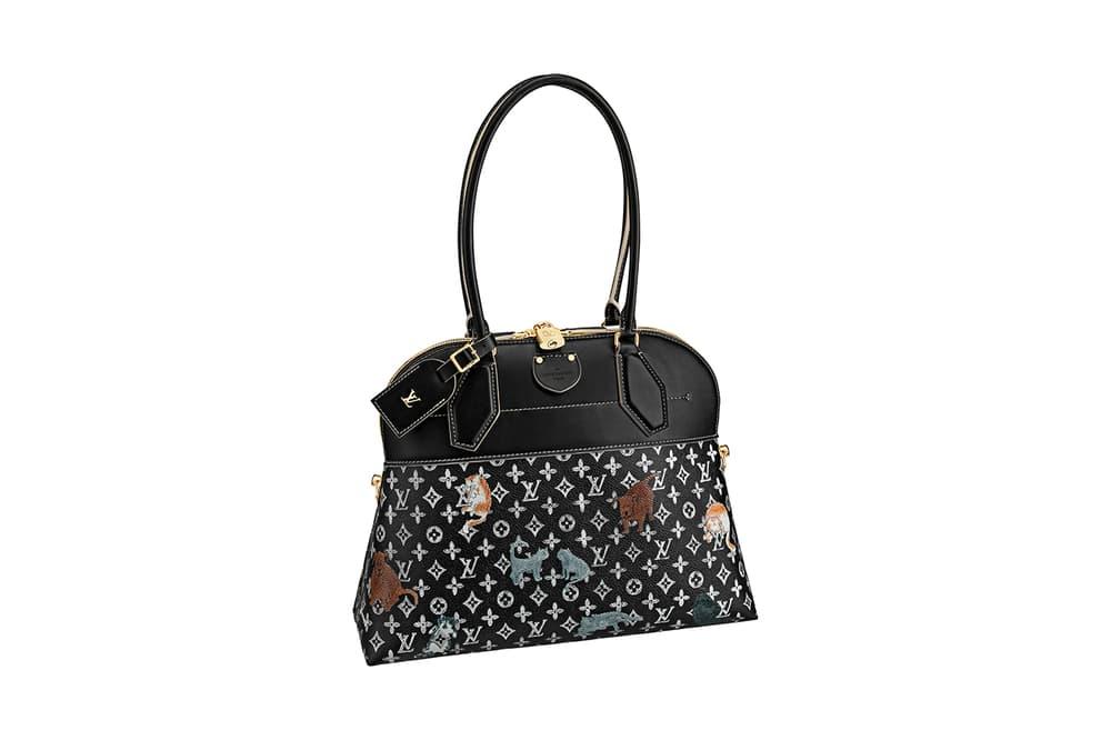 Louis Vuitton Grace Coddington Cruise 2019 Collaboration Cats Monogram Black Bag