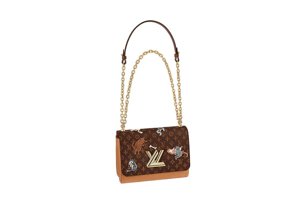 Louis Vuitton Grace Coddington Cruise 2019 Collaboration Cats Monogram Logo Bag