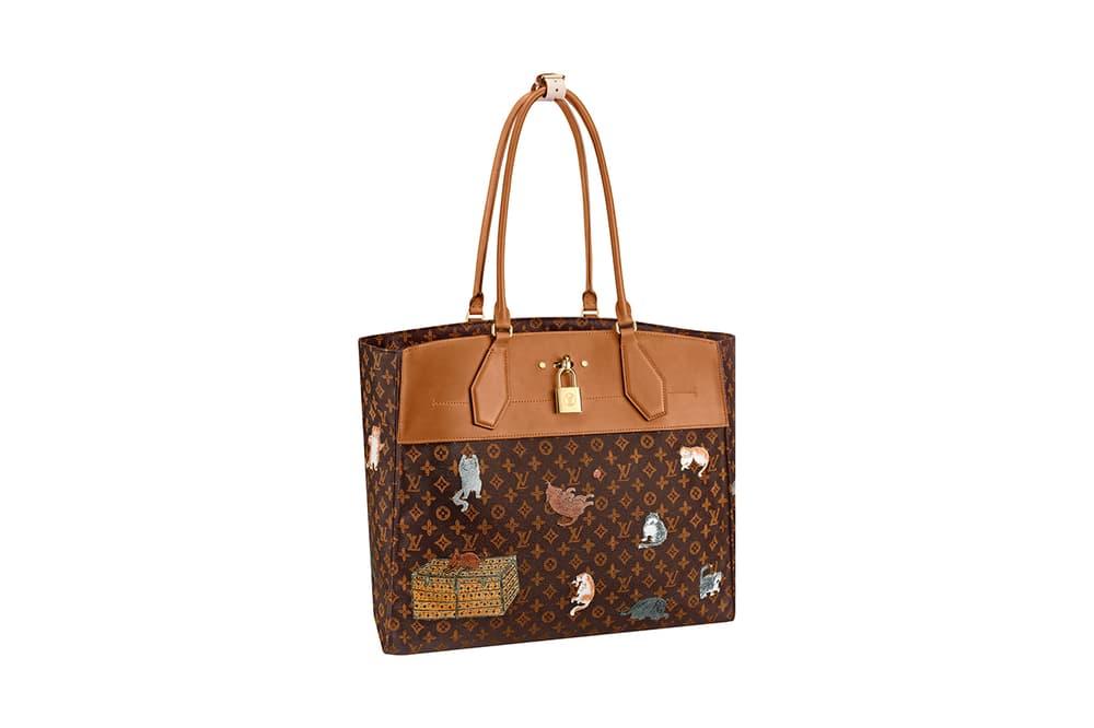 Louis Vuitton Grace Coddington Cruise 2019 Collaboration Cats Monogram Tote Bag