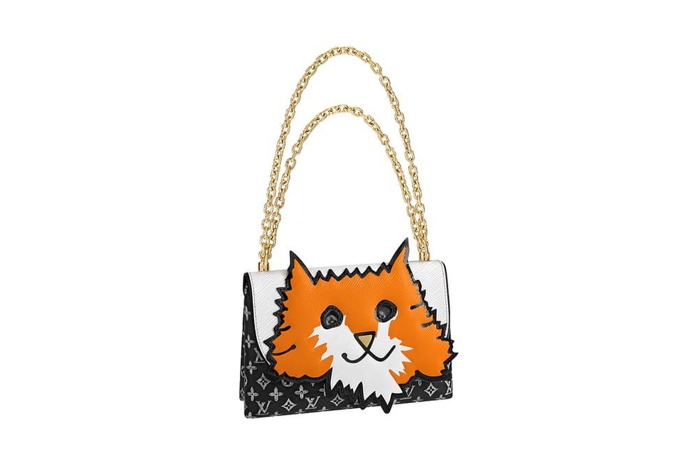 Louis Vuitton Grace Coddington Cruise 2019 Collaboration Cats Monogram Chain Bag