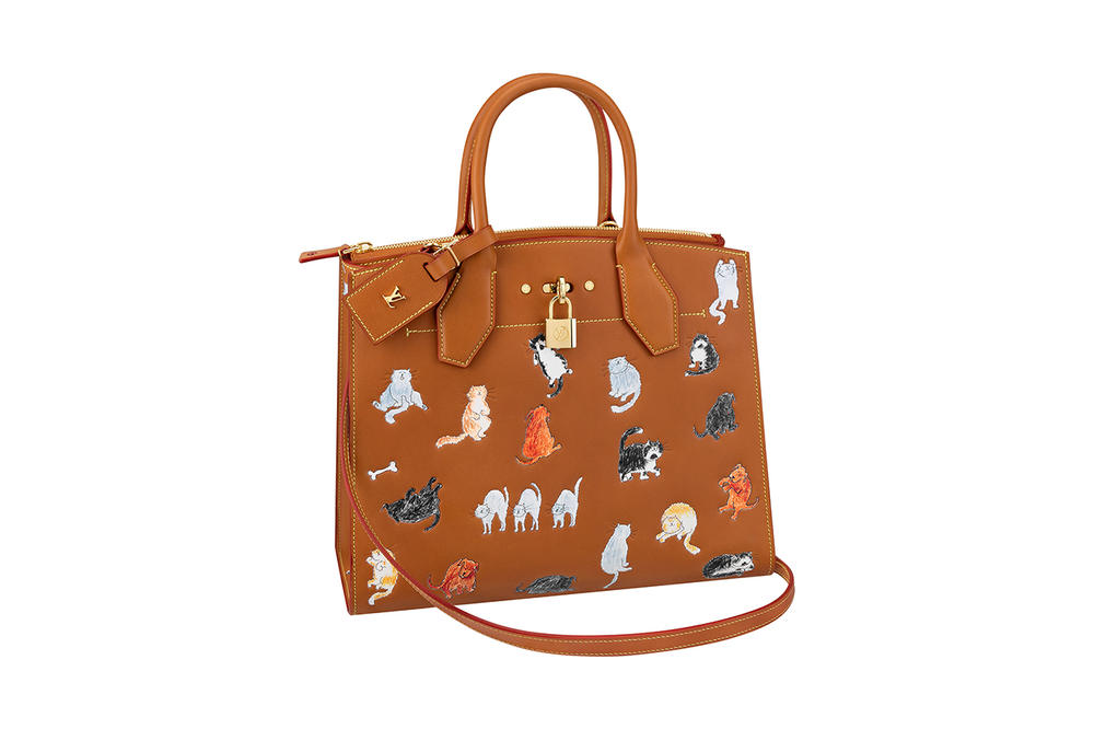Louis Vuitton Grace Coddington Cruise 2019 Collaboration Cats Bag