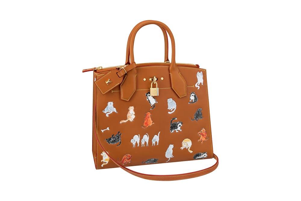 84144088829c Louis Vuitton Grace Coddington Cruise 2019 Collaboration Cats Bag
