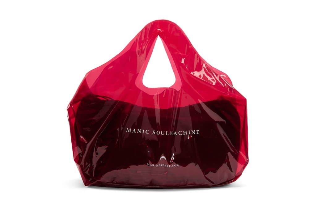 Marine Serre Red PVC Shopping Tote Bag Plastic Transparent