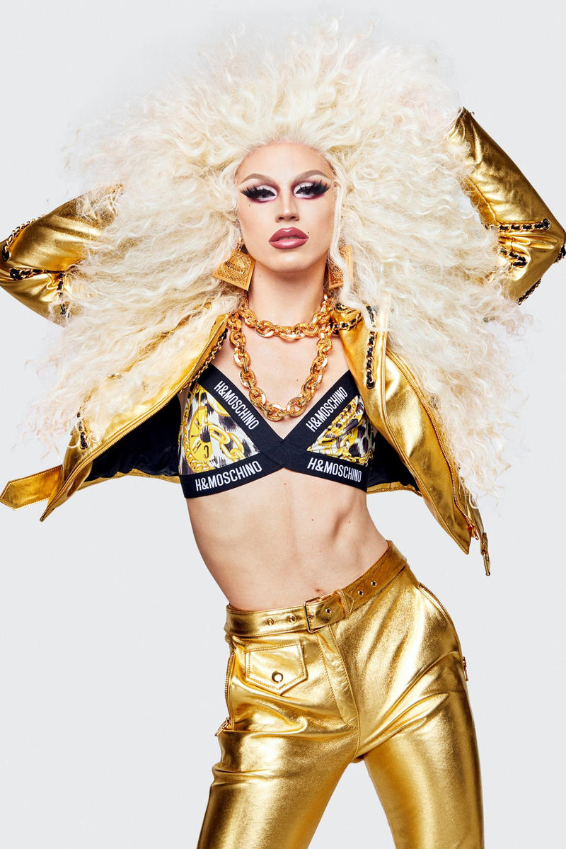 Moschino H&M Collection Lookbook Aquaria Bra Jacket Gold