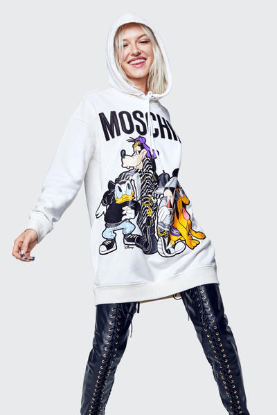 Moschino H&M Collection Lookbook Hoodie White